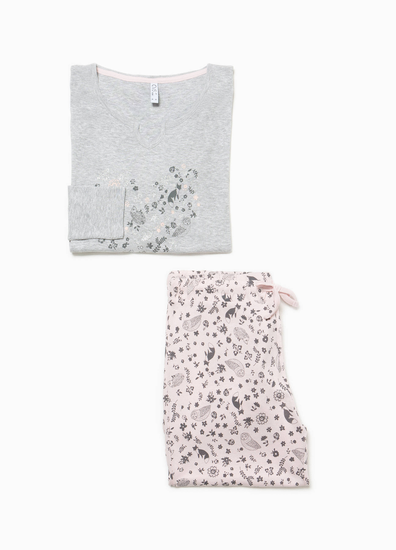 100% cotton floral pyjamas image number null