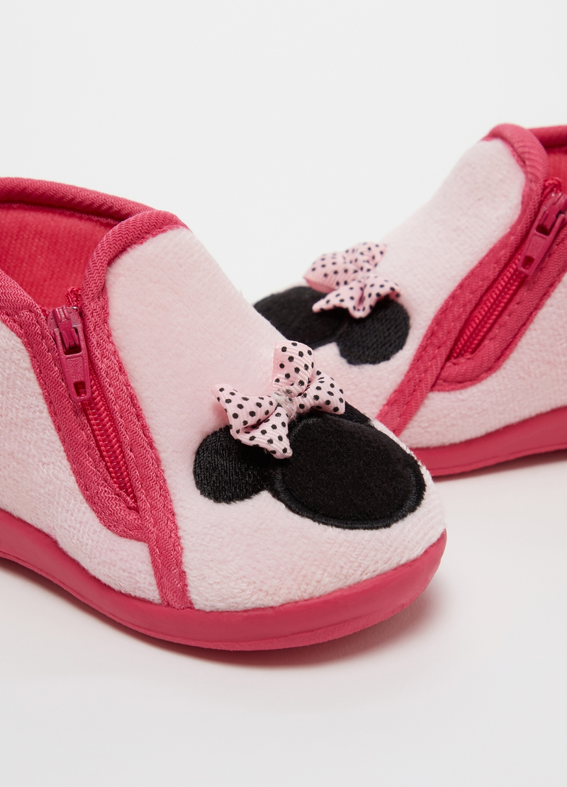 Pantofole con zip e ricamo Disney Minnie image number null