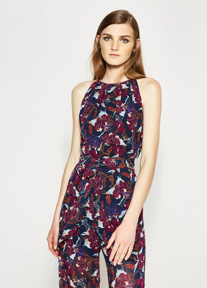 Playsuit with all-over floral print