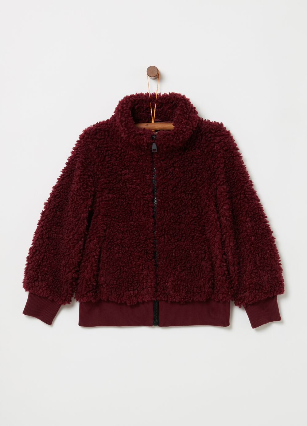 Faux fur jacket with full-zip