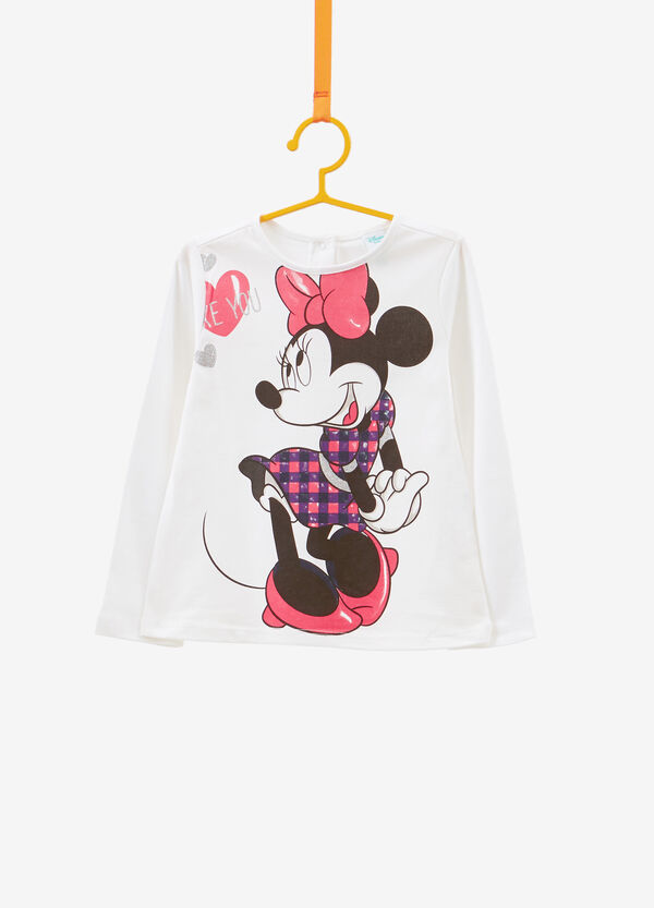 Maxi Minnie Mouse print T-shirt in 100% cotton