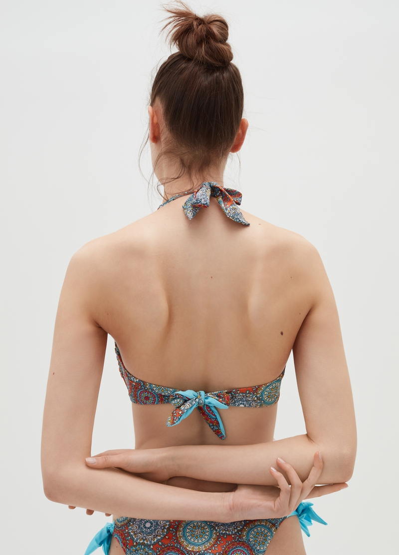 Patterned triangle bikini top image number null