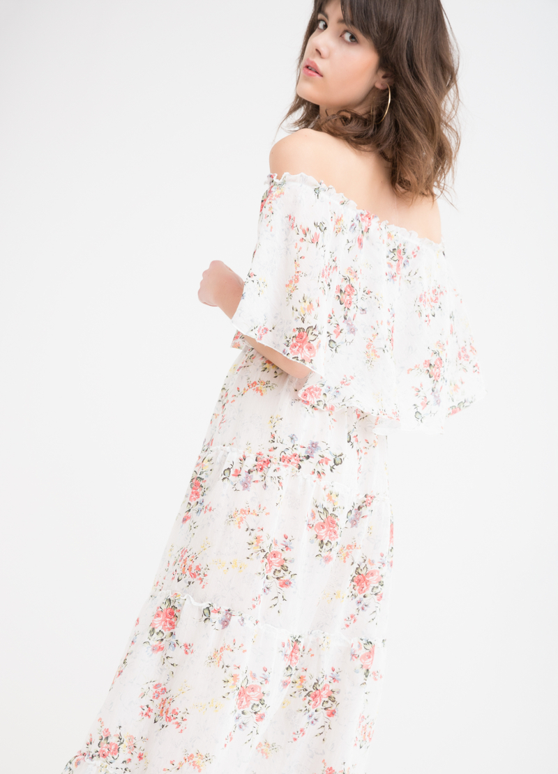 Long stretch floral dress image number null