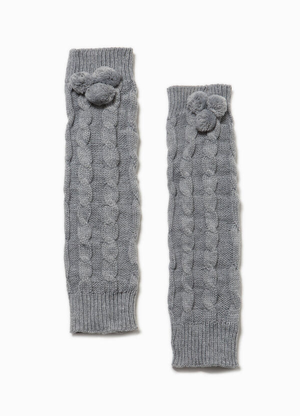 Solid colour leg warmers with pompoms | OVS