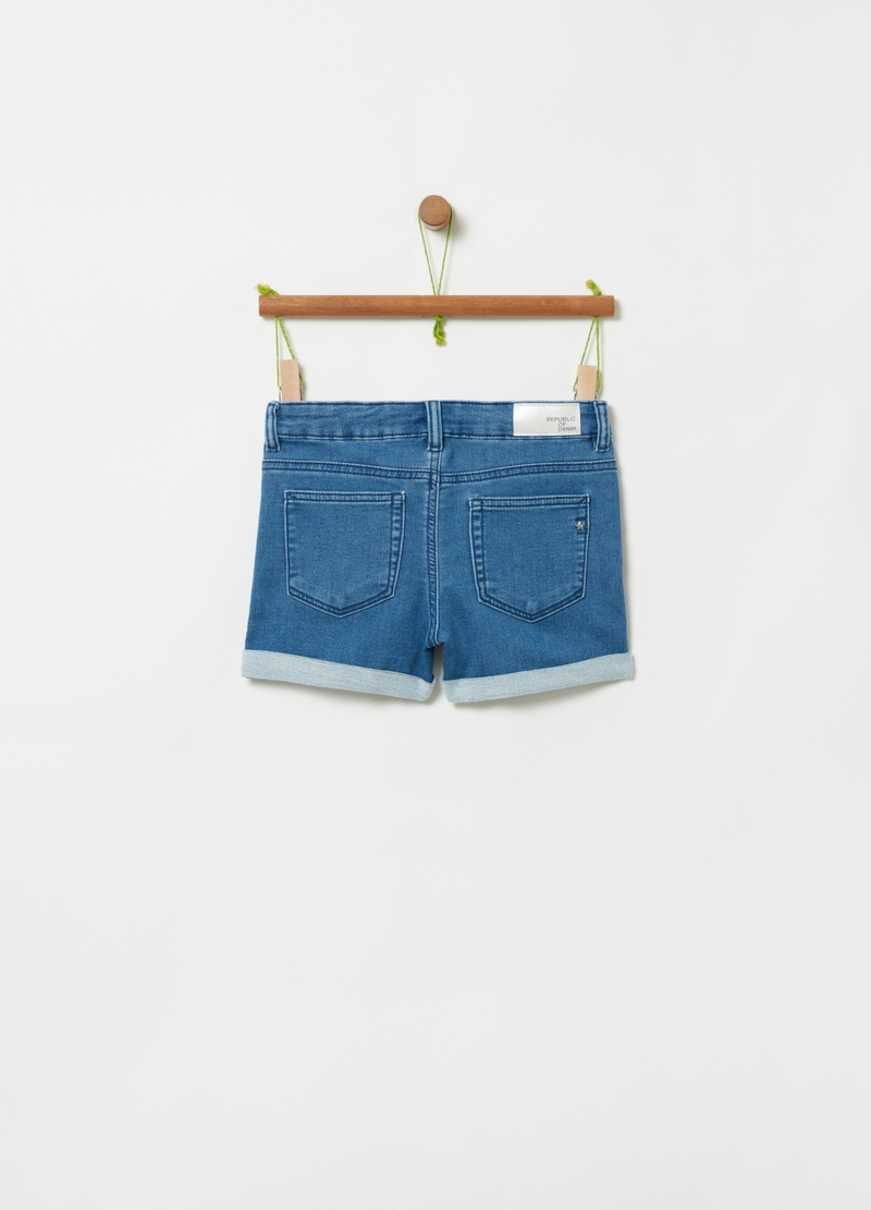 Shorts French Terry denim borchiette image number null