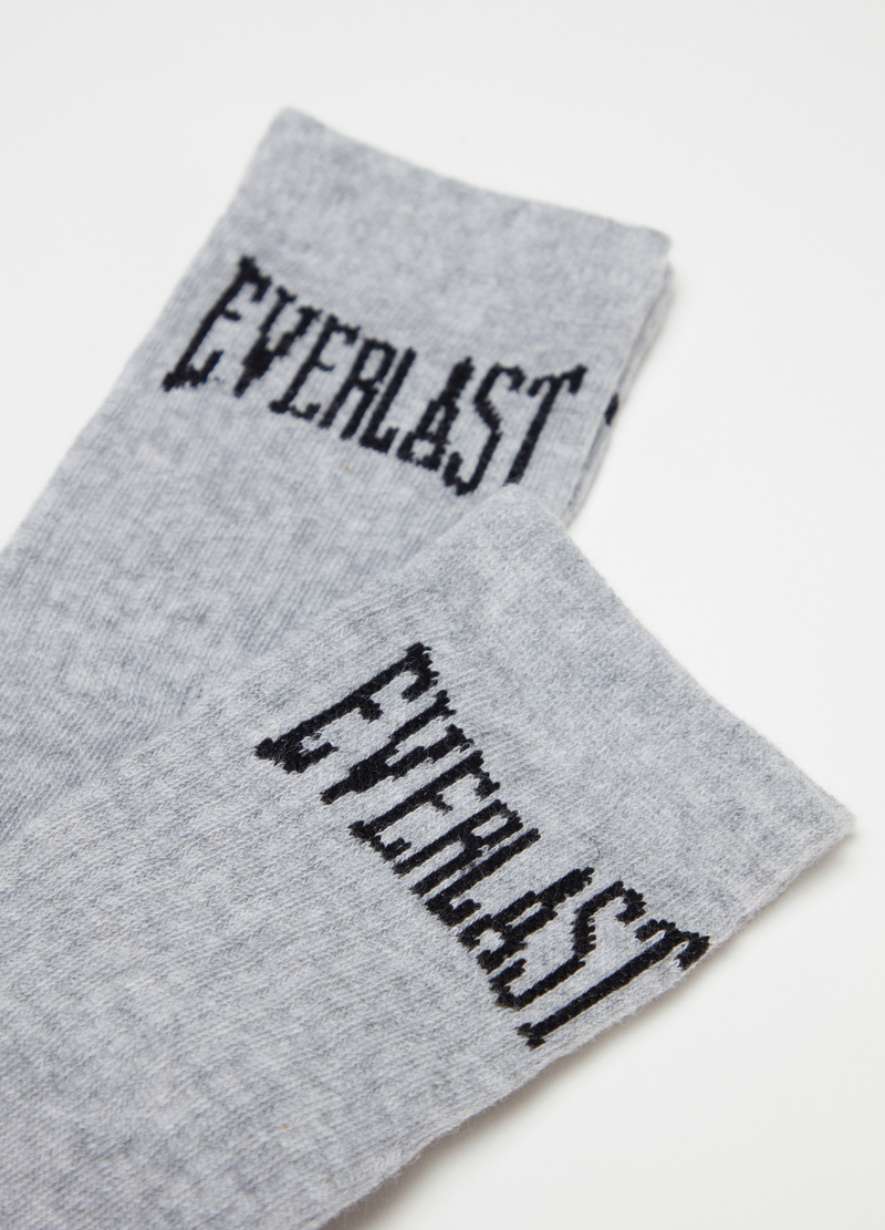 Short mélange socks with Everlast embroidery image number null