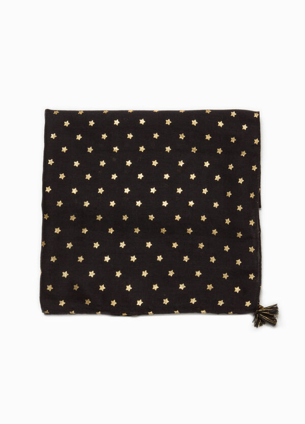 Viscose pashmina with stars and tassels | OVS