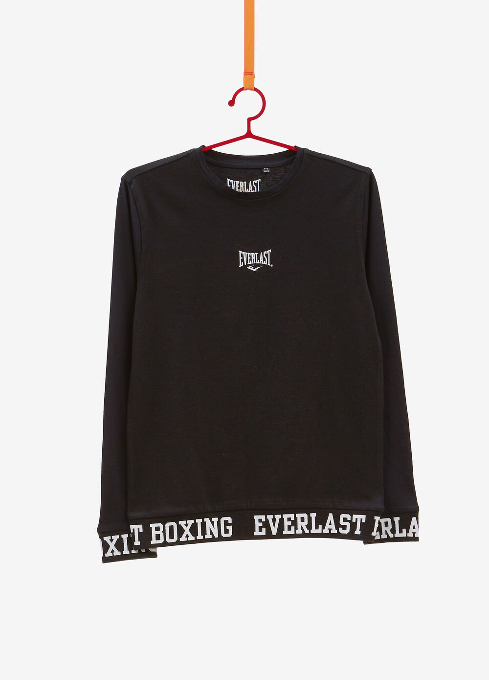Solid colour T-shirt with Everlast print