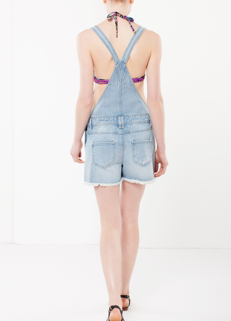Short denim overall image number null