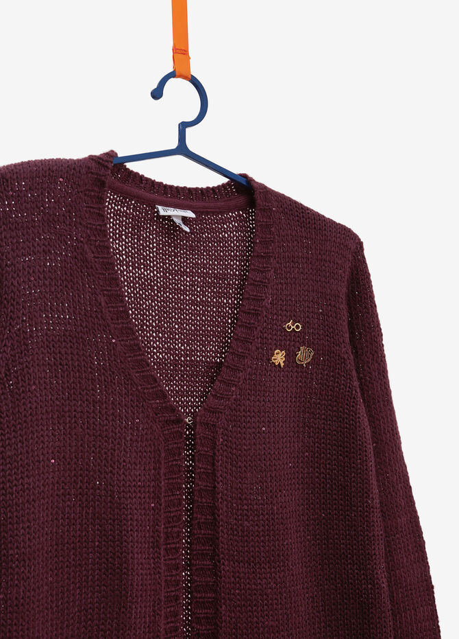 Cardigan tricot con patch Harry Potter