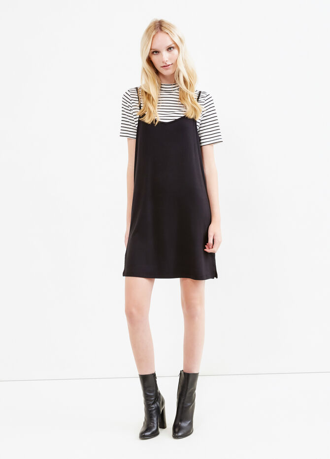 Viscose blend dress with T-shirt