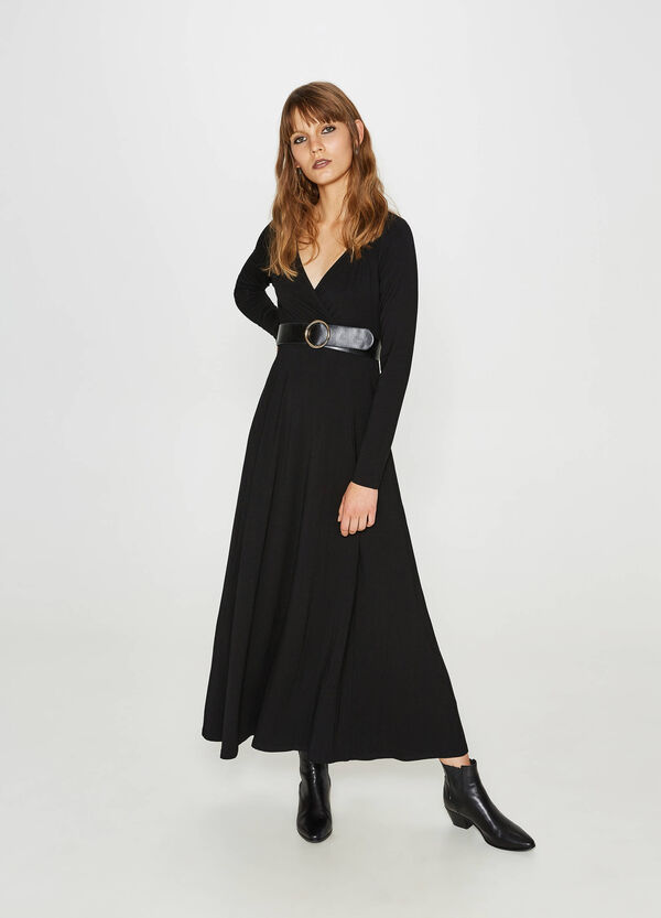 Long dress in stretch viscose