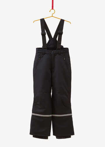 Solid colour ski trousers with braces