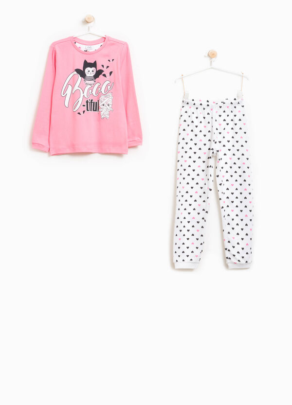 Better Cotton pyjamas with hearts print | OVS