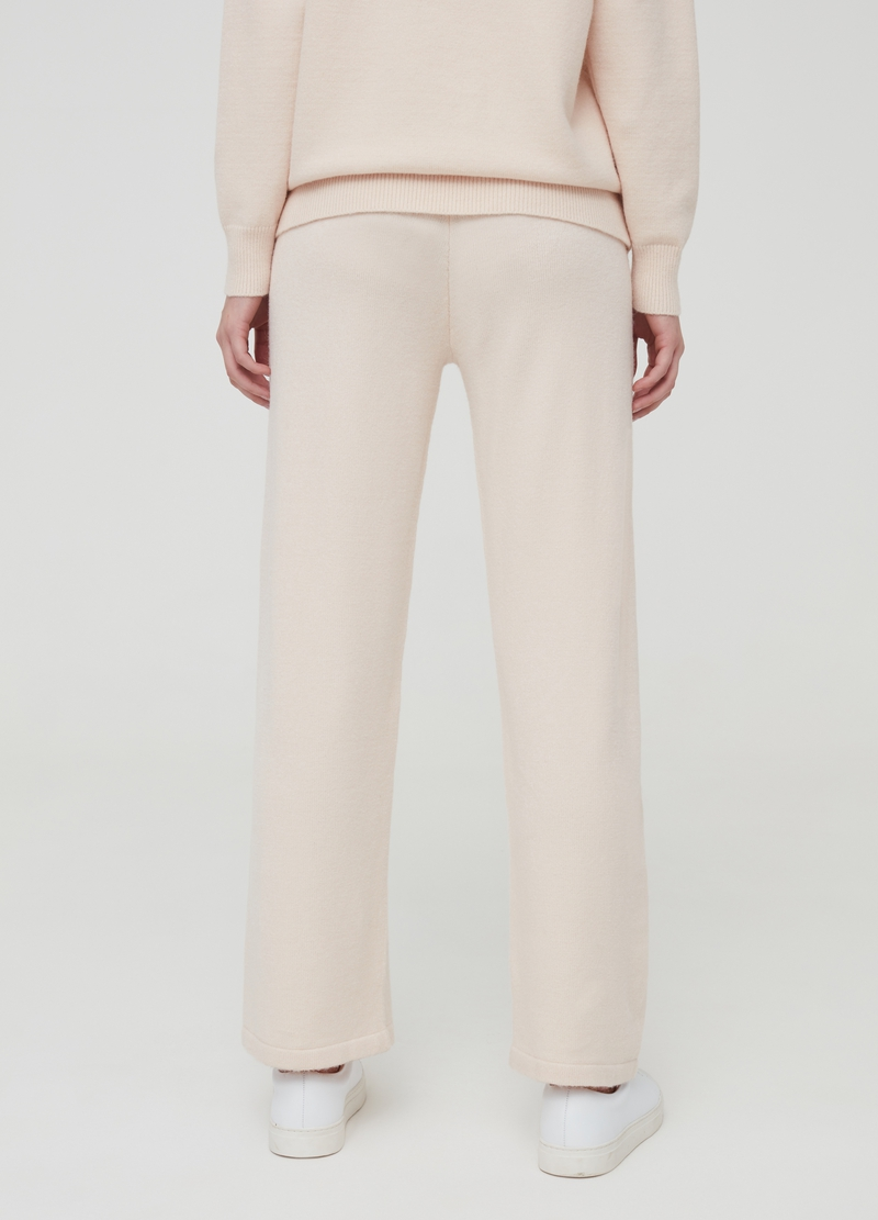 Solid colour knitted trousers image number null