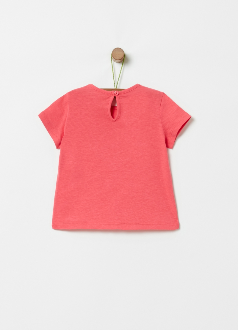 100% cotton T-shirt with heart embroidery image number null