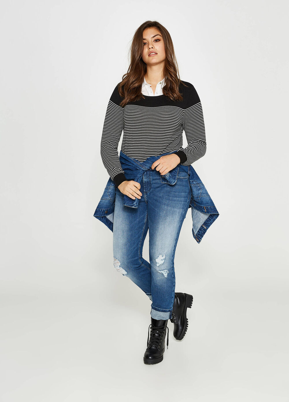 Jeans relaxed fit stretch used Curvy
