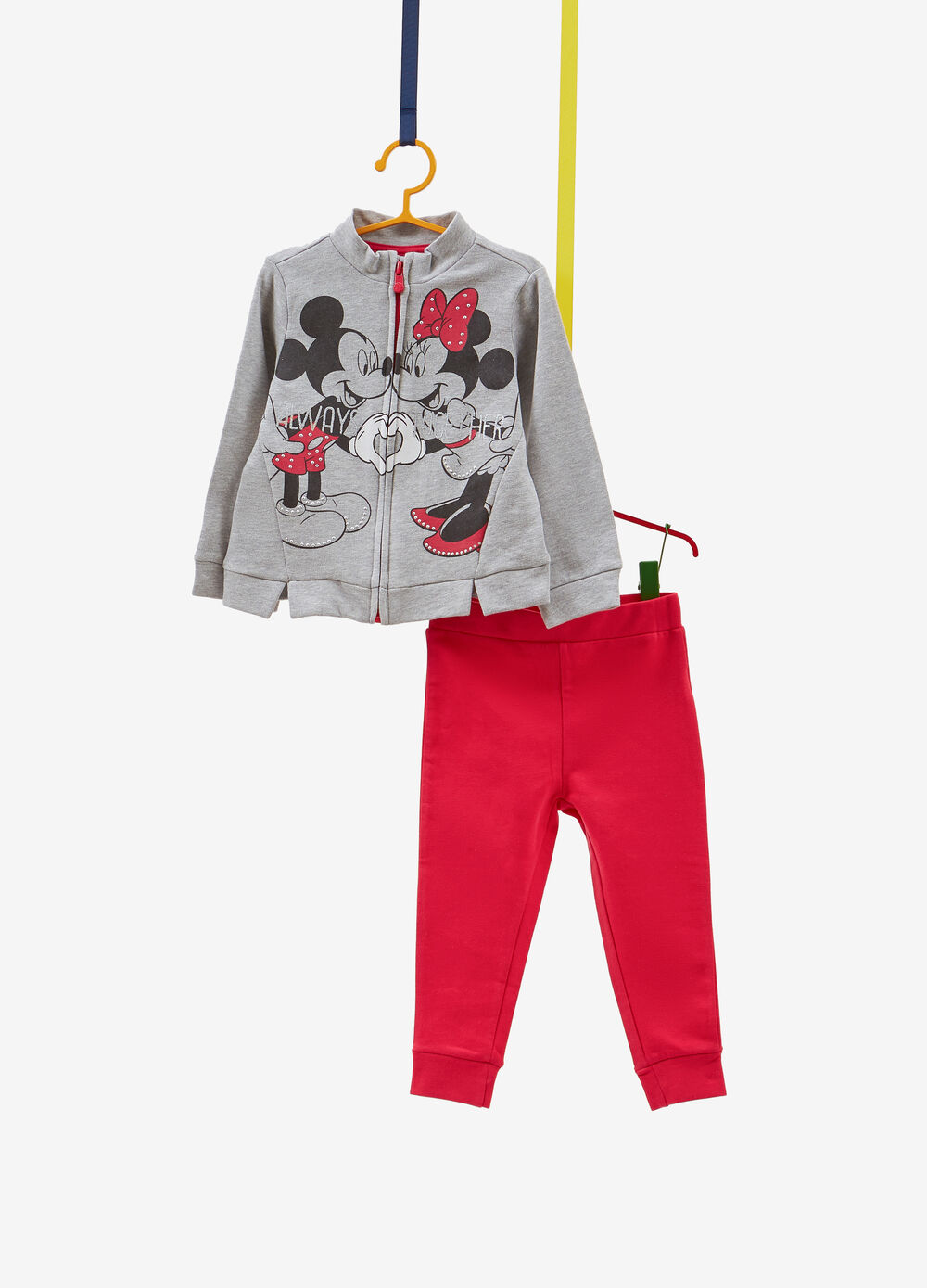 Cotton blend tracksuit with Mickey and Minnie Mouse