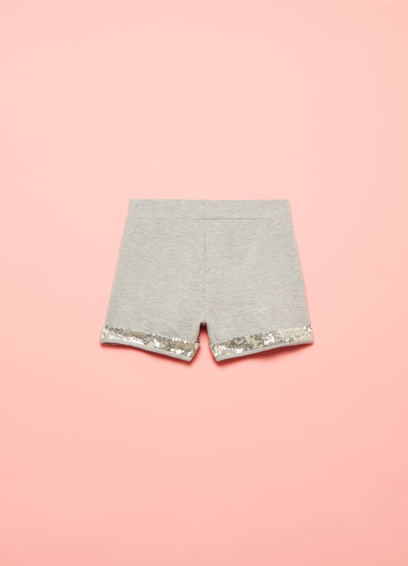Mélange shorts with sequins image number null