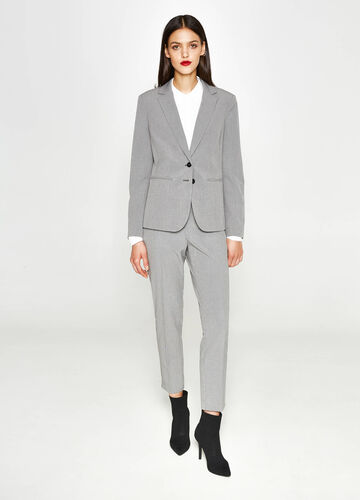 Elegant stretch jacket with micro check pattern