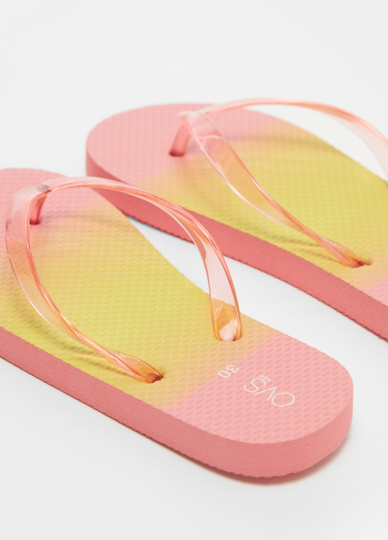 Flip-flops with semi-sheer bands image number null