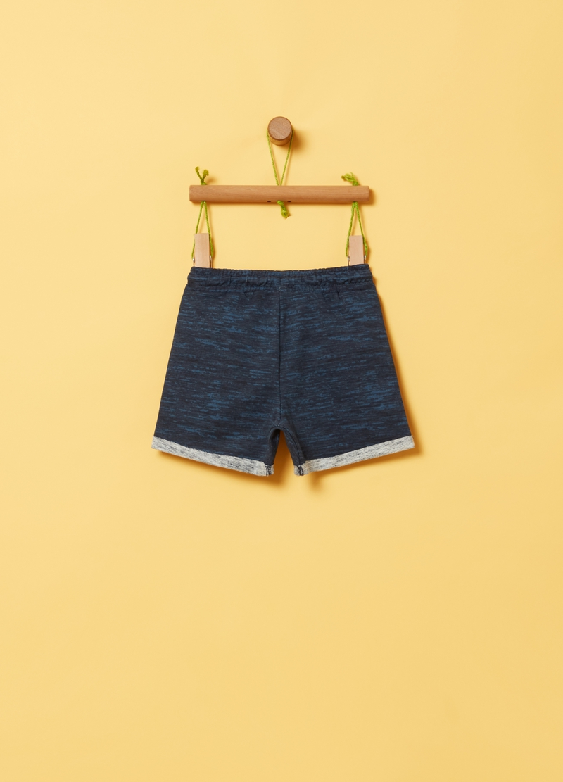 Shorts in 100% organic cotton with drawstring image number null
