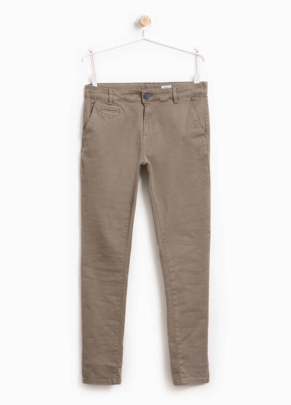 Pantaloni cotone stretch