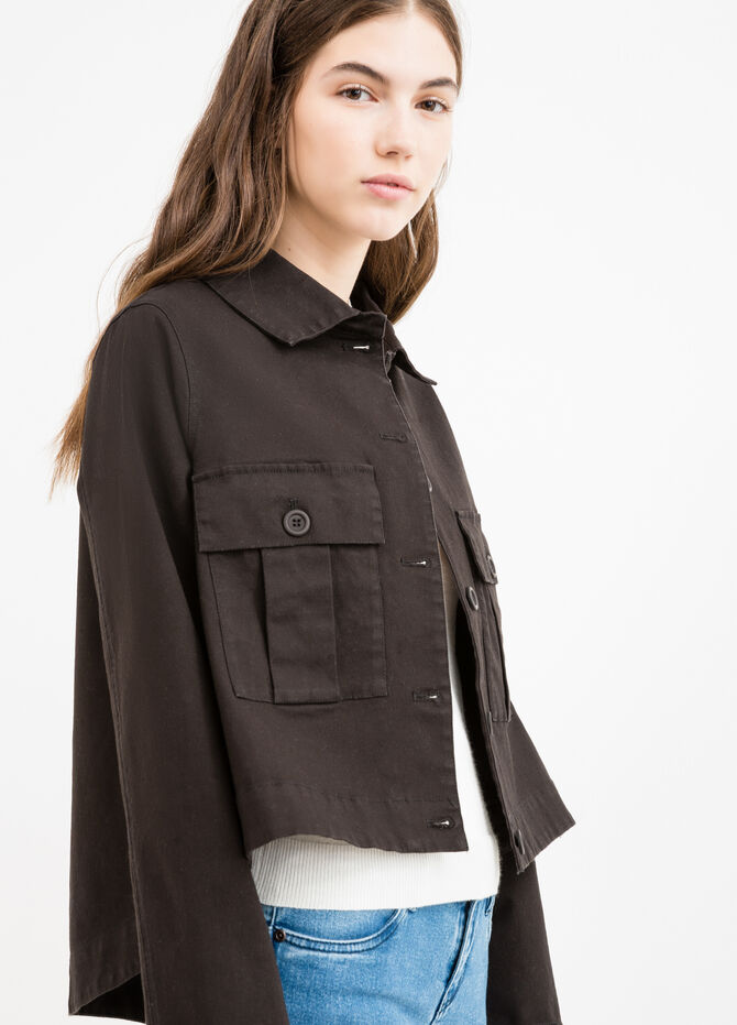 100% cotton jacket with double breast pocket