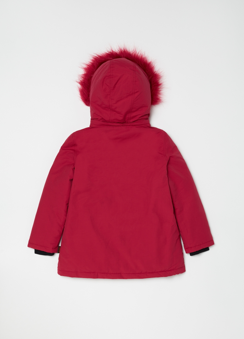 Heavy parka with hood and pockets image number null
