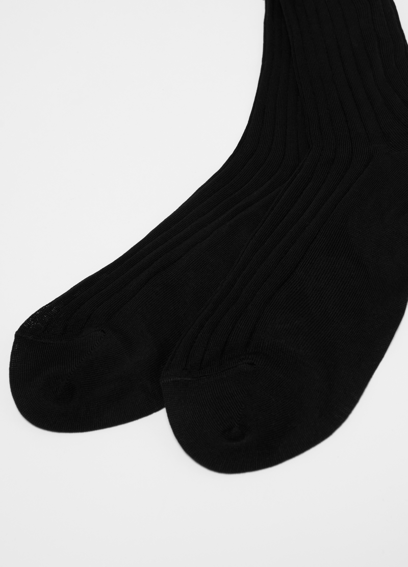 Long 100% cotton Derby socks image number null