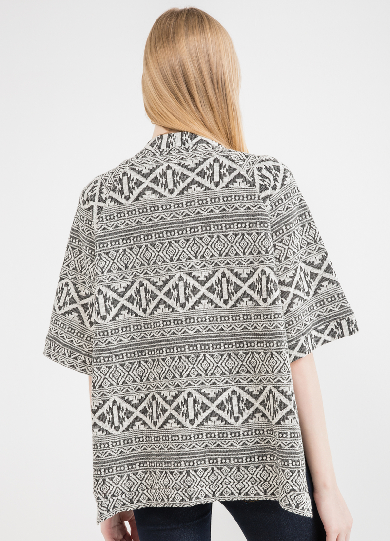 Ethnic pattern cotton cardigan image number null