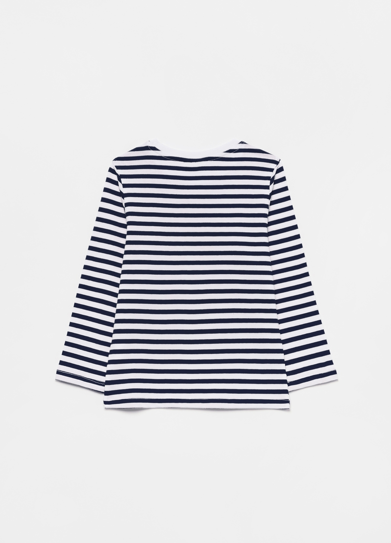 T-shirt puro cotone a righe image number null