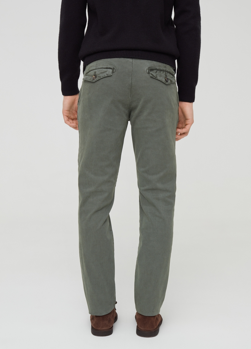 Stretch cotton twill chino trousers image number null