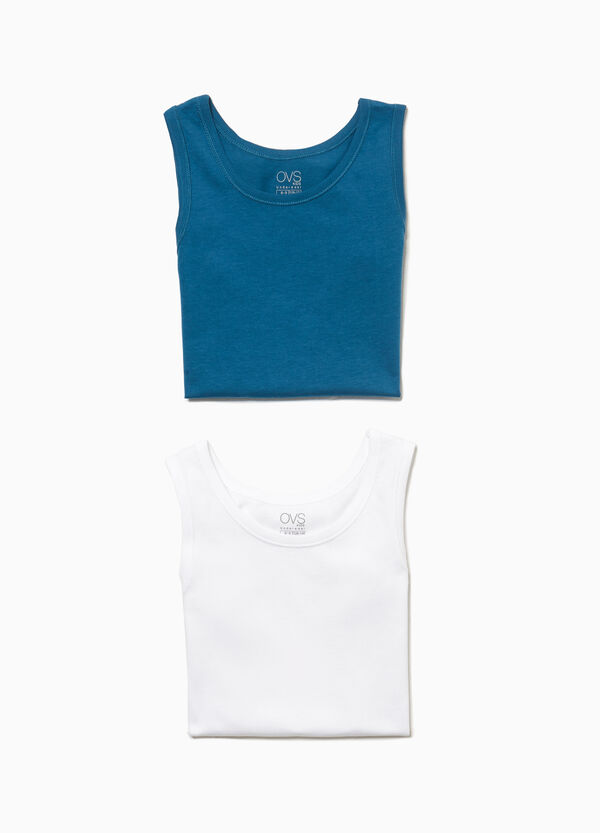 Two-pack 100% cotton under vests
