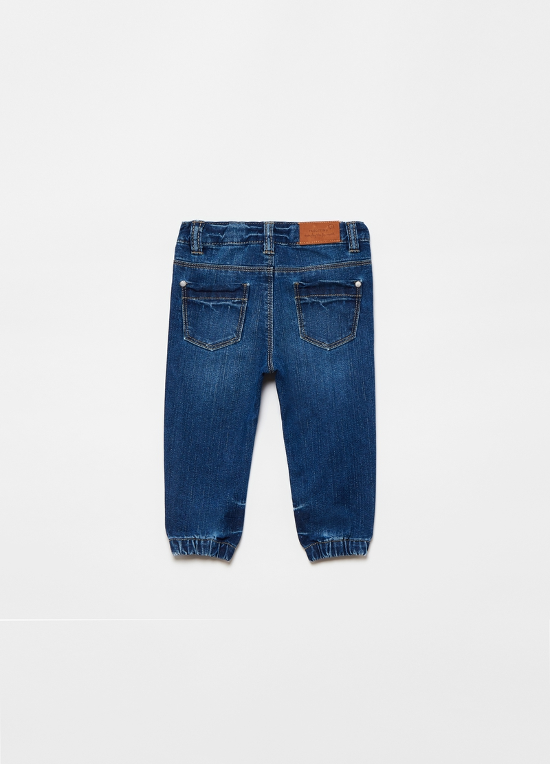 Misdyed-effect jeans with five pockets image number null