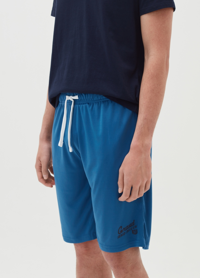 Bermuda jogger in cotone image number null