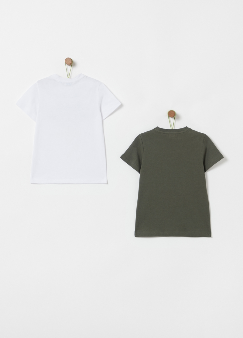 Two-pack 100% cotton T-shirt with print image number null