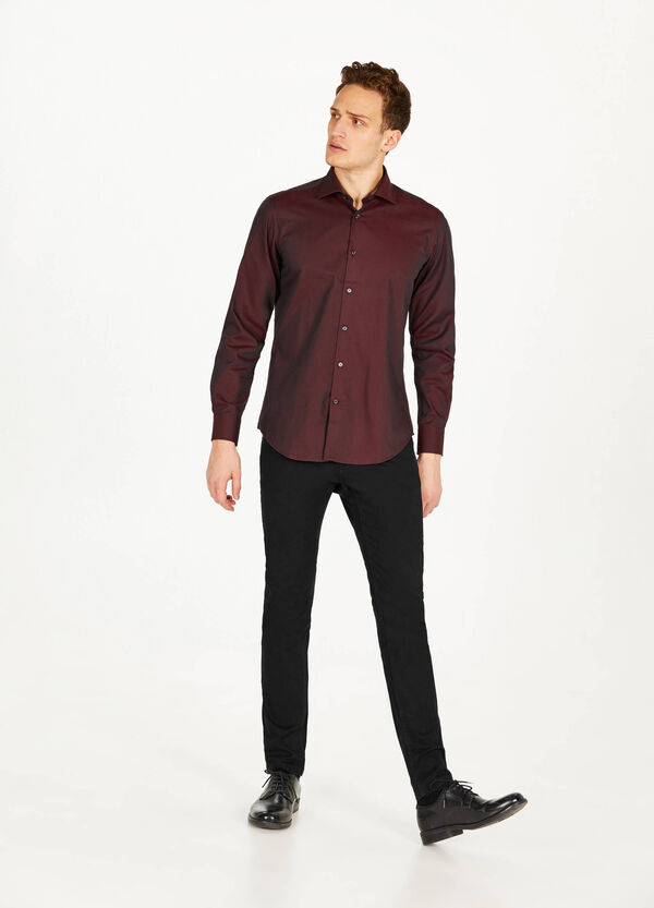 Slim fit cotton formal shirt