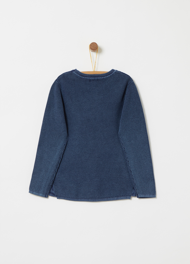 Knitted pullover with ribbing image number null