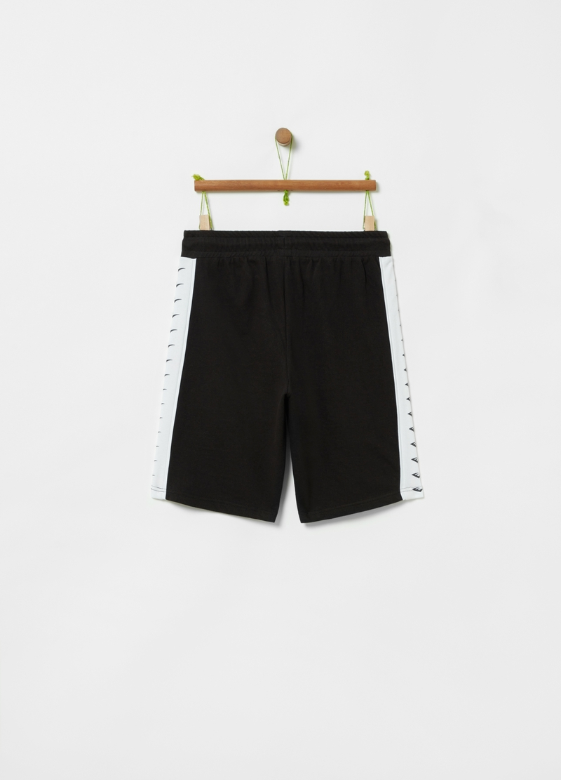 Bermuda shorts with drawstring and Everlast print image number null