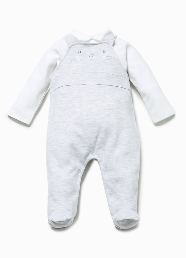 T-shirt and dungarees with feet outfit | OVS