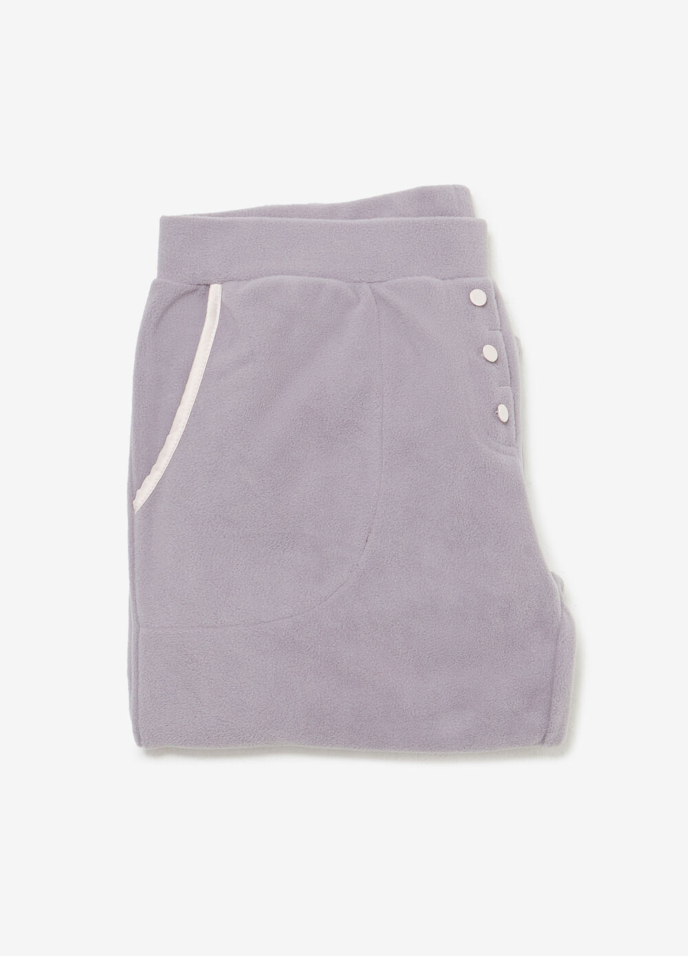 Pyjama trousers with buttons and pockets