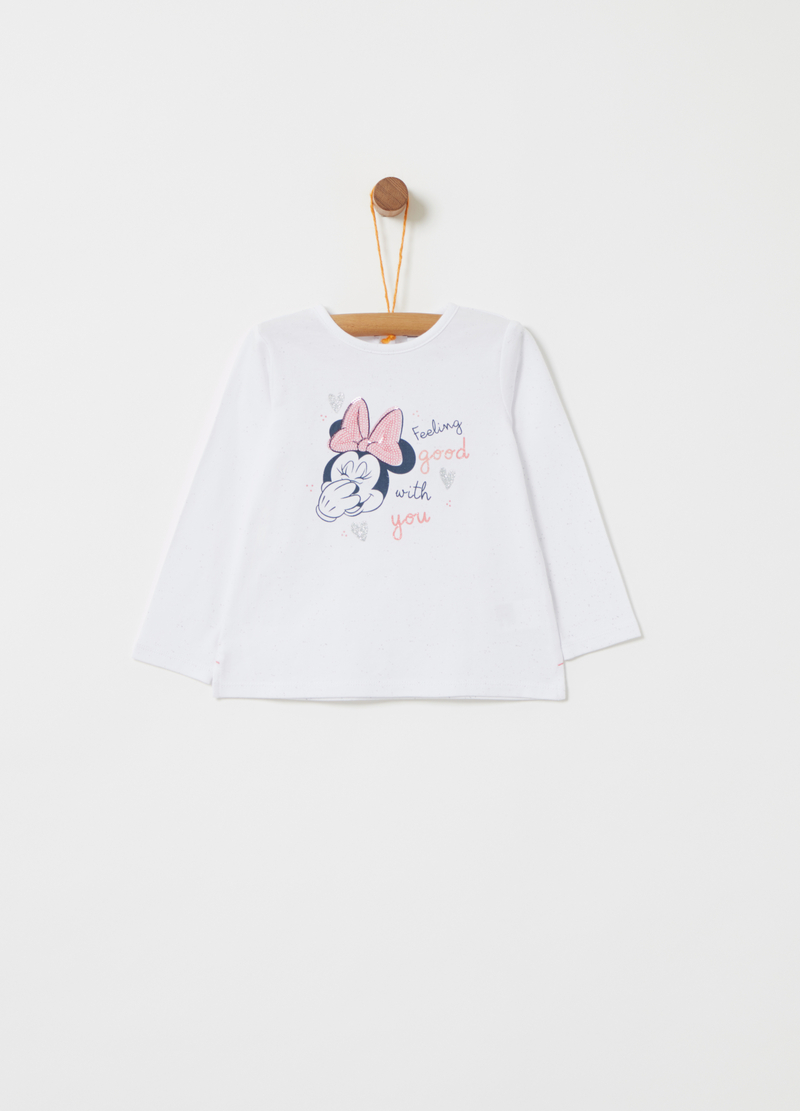 T-shirt Disney Baby Minnie con paillettes image number null