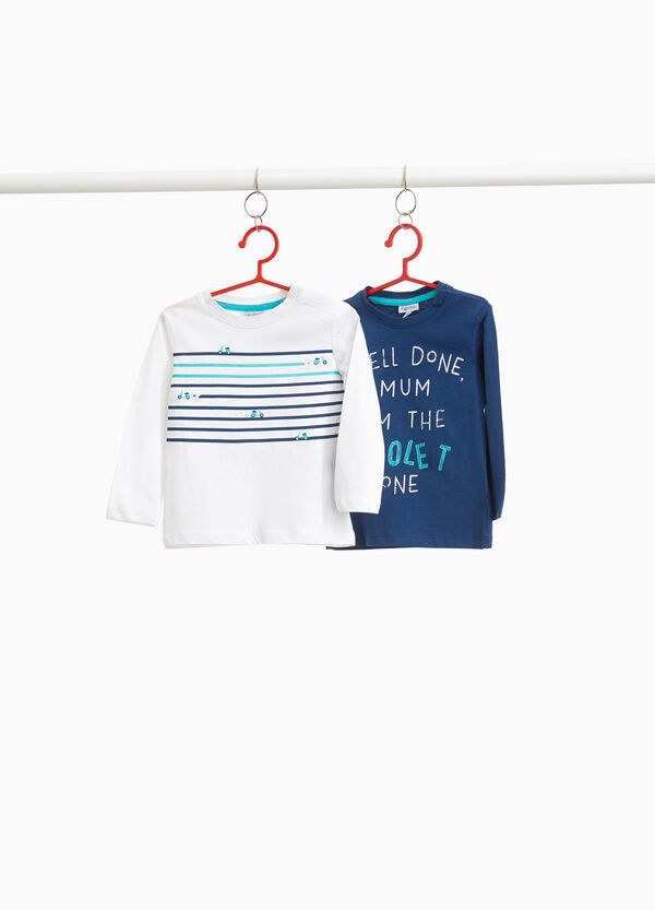 Set due t-shirt in cotone stampate