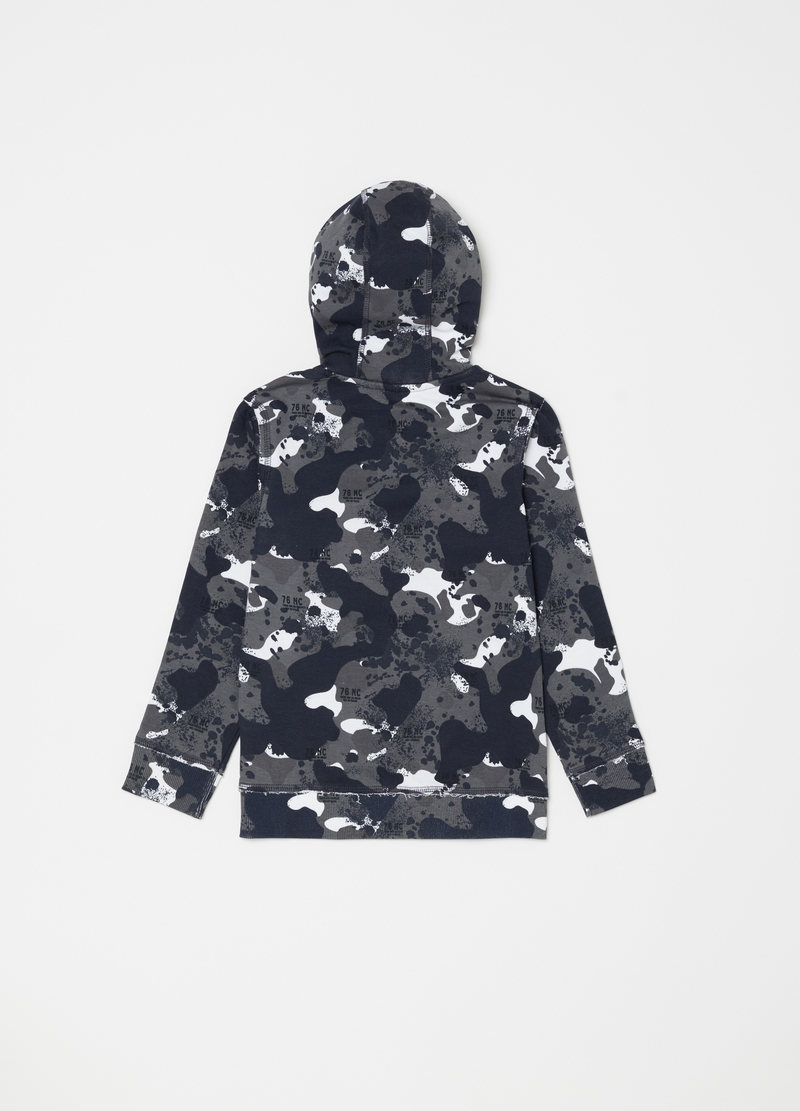 Camouflage patterned hoodie image number null