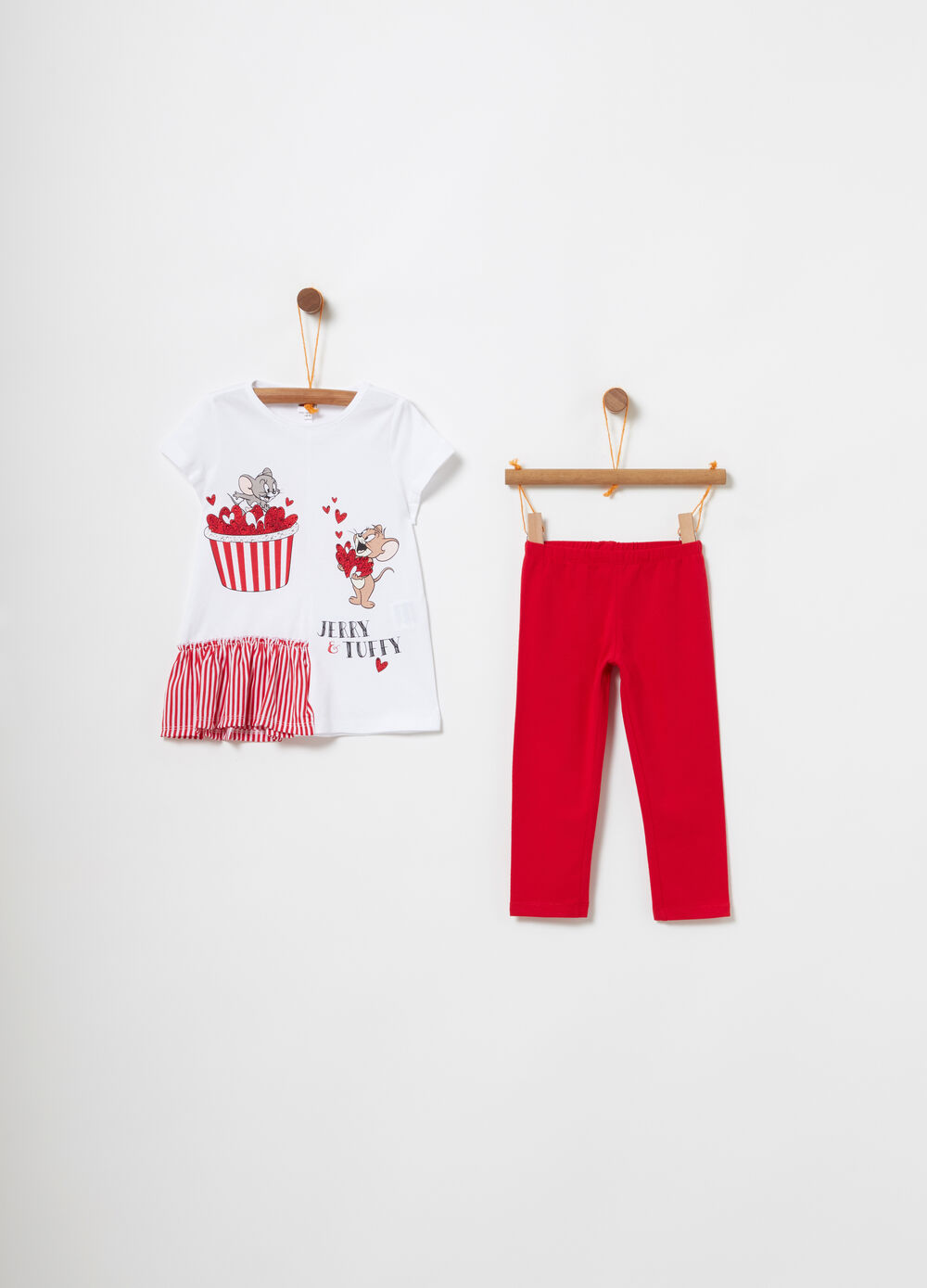 Jogging set t-shirt con volant Tom e Jerry