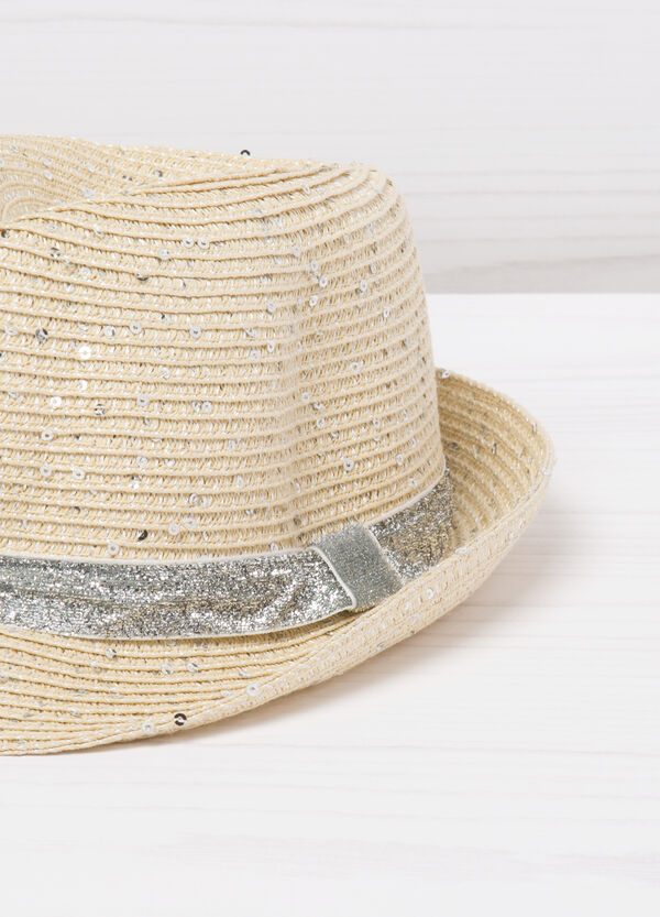 Hat with glitter sequins | OVS