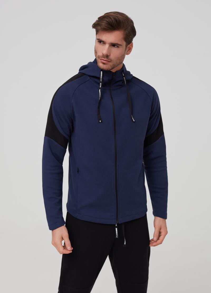 Full-zip a collo alto con cappuccio image number null