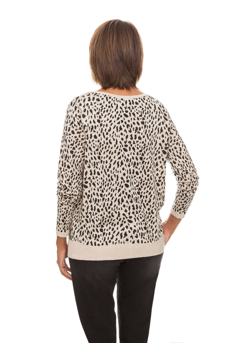 Cardigan stampa animalier image number null