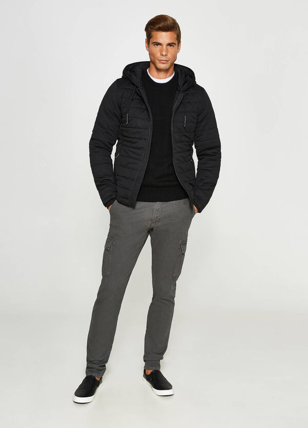 Down jacket with hood and drawstring | OVS